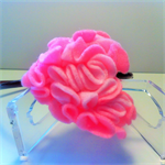 Valentine's Day Head band with ruffle heart.
