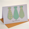 Happy Birthday|Male Birthday Card|Tie Design Personalise with name| Mint|MALE002