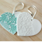Personalised white or mint  Christmas decoration, ornaments.  Teachers gift.