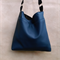 Teal blue faux leather hobo slouch, shoulder bag