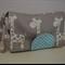 Giraffe Nappy Wallet with Aqua Dots Tab New Design Fits all Wipes