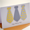 |Male Birthday Card|Tie Card| Personalise|Yellow& Grey|MALE001