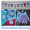 Personalised Bunting pink/pale blue floral