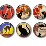 Vintage french cat poster fridge magnets