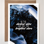'In the Darkest Skies' Greeting card