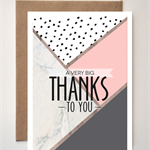 'A Very Big Thanks' Greeting card Mothers Day