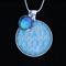 Blue Chain~ Silver Plate Pendant