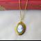 Pride and Prejudice Locket Necklace Cameo Woman Jane Austen Gold Vintage