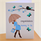 Blue Baby Shower Card | Baby Boy | Expectant Mother| BUBSH002