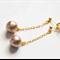 Beige Cotton Pearl Earrings