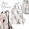 Large Ballet Bag. Drawstring Bag. Cream Pink & Grey. Ballet Slippers Dancewear.