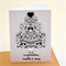 Congratulations Card Personalise with names Black & White Engagement ENGAGE001