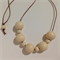 Sand #stella Wood Bead Necklace