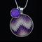 Purple Idaho~ Silver Plate Pendant