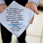 Wedding Handkerchief - Flowergirl - Page boy- Ringbearer gift