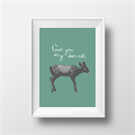 Woodland Nursery Print - Deer