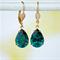 Emerald Swarovski Earrings, Teardrop Earring, Green Teardrop Earring
