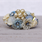 Something Blue Cuff Bracelet, Bridal Corsage