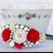 Vintage Collage Headband, Shabby Chic Bridesmaids Headband, Red Headband