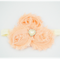 Cluster Flower Headband Pink with Bling. Chiffon Flowers.