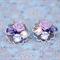 Purple Collage Earrings, Lavender Earrings, Purple Swarovski Earrings