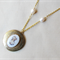 Jane Eyre Locket Necklace Charlotte Bronte Vintage Raw Brass Gold Cabochon