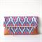 Tribal Indigo foldover clutch/ zipper clutch/nappy wallet