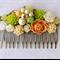 Tutti Frutti Vintage Hair Comb, Bridesmaid Hair Comb, Collage Hair Comb