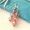 Pale pink crystal cut glass earrings. gift wrapped .