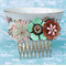 Flower Power Collage Hair Comb, Floral Bridesmaids Comb
