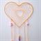 Dreamcatcher -Apricot with  purple,mauve,mint,orange handmade polymer clay beads