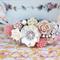 Field of Flowers OOAK Collage Headband, Shabby Chic Bridesmaid Headband