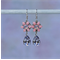 Mauve and Pink Flower Earring, Flower Dangle Earring, Smoky Mauve Earring