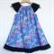 Alice In Wonderland Flutter Sleeve Peasant Dress, 100% Cotton, Size 2