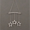 Wall Hanging, Set of 3 stars made with Jute twine.
