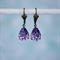 Tanzanite Swarovski Teardrop Earring, Purple Earring,  Swarovski Earring