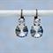 Blue Rivoli Earring, Something Blue Bridal Earring, Swarovski Bridal Earring
