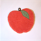 RED APPLE POTHOLDER HEATPAD, vintage chenille and linens