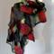 nuno felted merino and silk gauze scarf wrap