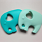 Silicone Elephant Teether - Mint or Turquoise