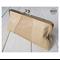 Caramel leather clasp clutch