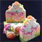Clown Cake soap with Coconut Milk
