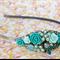Vintage Minty Bridesmaids Headband, Vintage Collage Headband