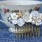 Bridal Comb, Wedding Comb, Collage Bridal Comb, Bridal Comb