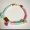Dulce pastels and pompom bracelet