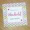Modern Female Happy Birthday card - rainbow chevron