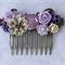 Floral Collage Hair Comb, Collage Bridal Comb, Lilac Bridesmaid Comb