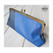 Navy & Royal blue leather clasp clutch