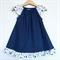 Spring Polka Dot Flutter Sleeve Peasant Dress, 100% Cotton, Size 1 OR 2