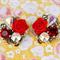 Ruby Collage Earrings, Swarovski Collage Earrings, Bridesmaid Earrings
